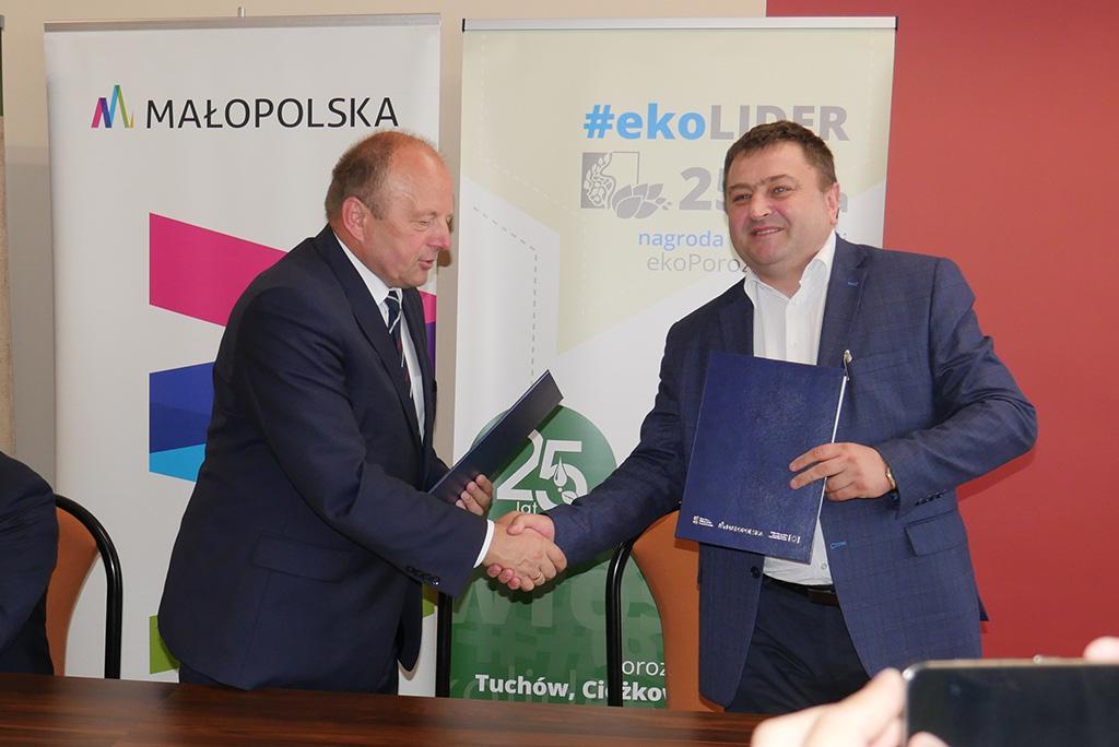 Podpisanie umowy RPO na prace w gumienne Ciężkowice