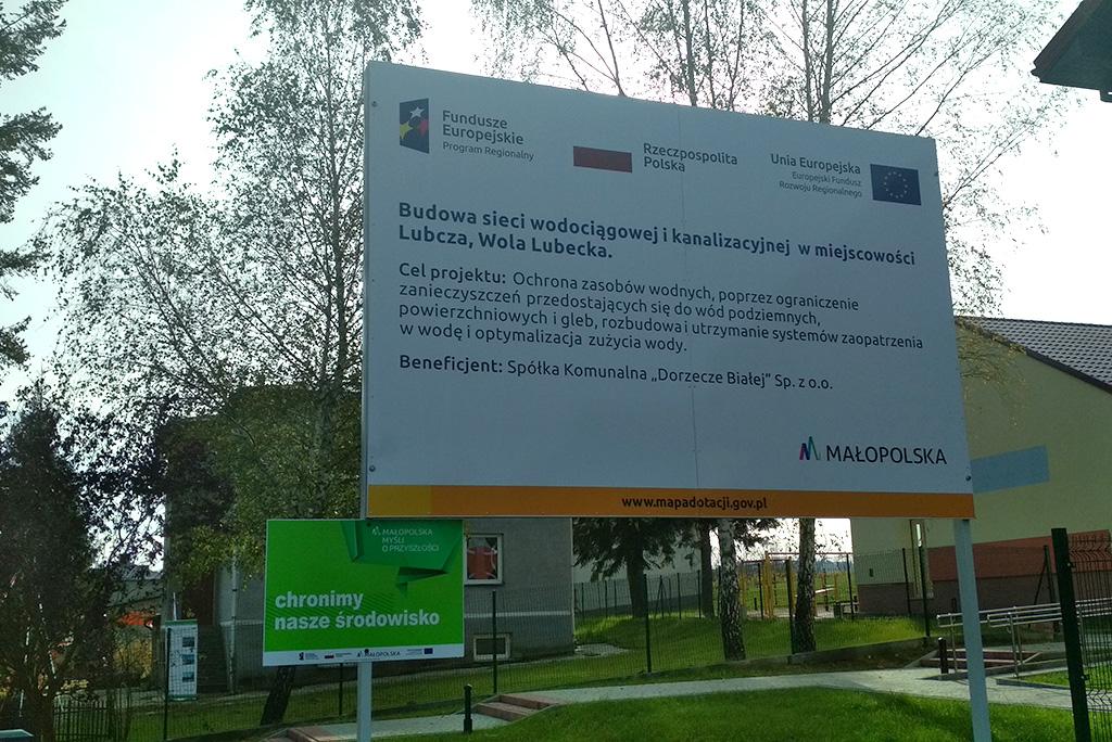 budowa sieci wodociągowej i kanalizacyjnej w miejscowości Lubcza i Wola Lubecka